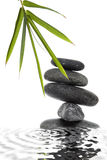 Bamboo and Pebble Still Life royalty free stock images