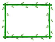 Bamboo photo frame Royalty Free Stock Image
