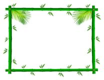 Bamboo photo frame Royalty Free Stock Photo