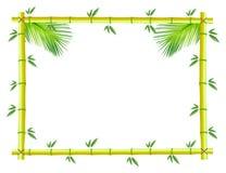 Bamboo photo frame Stock Image