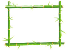 Bamboo photo frame with white background Royalty Free Stock Photography
