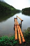Bamboo pier Royalty Free Stock Photo