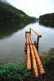 Bamboo pier Royalty Free Stock Photo