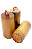 Bamboo piggy bank Royalty Free Stock Images