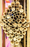 Bamboo pipe art Royalty Free Stock Images