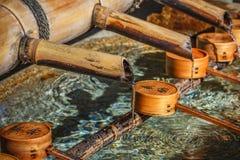 Bamboo Pipe at Yasaka-jinja in Kyoto Stock Photo