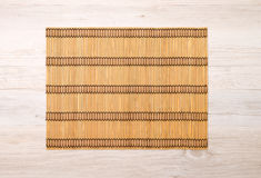 Bamboo place mat Royalty Free Stock Photo
