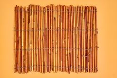 Bamboo Place Mat Royalty Free Stock Images