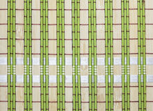 Bamboo placemat background  .bamboo green tablecloths Royalty Free Stock Images