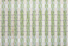 Bamboo placemat background, bamboo green tablecloths Stock Photography