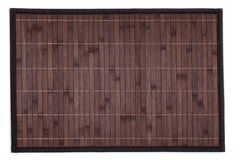 Bamboo placemat isolated Royalty Free Stock Image