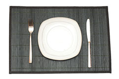 Bamboo placemat Stock Image