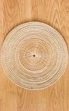 Bamboo placemat straw wood Royalty Free Stock Photography