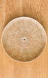 Bamboo placemat straw wood Royalty Free Stock Images