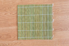Bamboo placemat straw wood Royalty Free Stock Photo