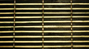 Bamboo placement in a horizontal arrangement. Perfect as a background for food royalty free stock photography