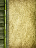 Bamboo, planks and handmade paper Stock Image