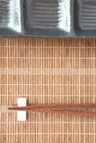 Bamboo plate mat Stock Images