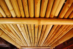 Bamboo plate of thai house Stock Image