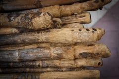 Bamboo pole Stock Image