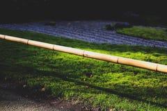 Bamboo Pole near Zen Garden. In the Japanese Tea Gardens in San Francisco California Stock Photos