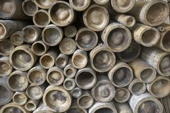 Bamboo poles Stock Images