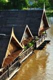 Bamboo raft Stock Image