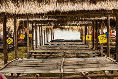 Bamboo raft. Royalty Free Stock Image