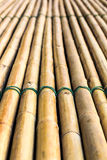 Bamboo raft. Background of bamboo raft with a rope tightly bonded beautifully Royalty Free Stock Photos