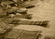 Bamboo raft of China GuiLin. Royalty Free Stock Image