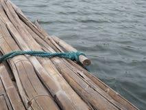 Bamboo raft. Stock Image