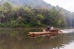 Bamboo raft. Flot on reservoir at Pang Oung Mae hong son, Thailand Stock Images