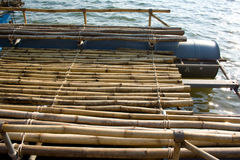 Bamboo raft. Royalty Free Stock Photography