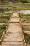 Bamboo raft in lake Royalty Free Stock Photo
