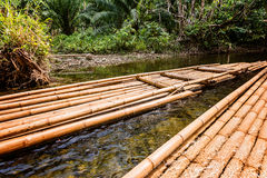Bamboo raft Stock Photography