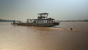 Bamboo, raft , mekong, cambodia, southeast asia stock video