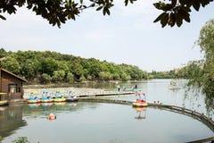 Bamboo raft Stock Photos