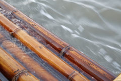 Bamboo raft Royalty Free Stock Images