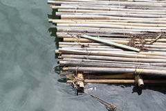Bamboo Raft. On the river Royalty Free Stock Photography
