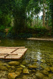 Bamboo raft Stock Photography