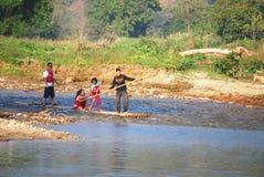 Bamboo rafting Royalty Free Stock Photo