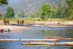 Bamboo rafting Royalty Free Stock Photography