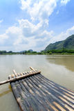 Bamboo rafting li river china stock photo