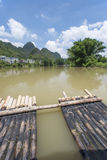 Bamboo rafting li river china royalty free stock photo