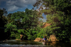 Bamboo rafting Royalty Free Stock Images