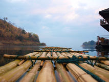 Bamboo rafting Royalty Free Stock Photo