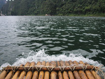 Bamboo rafting Stock Photo