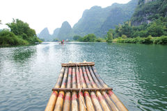Bamboo rafting Royalty Free Stock Image