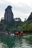 Bamboo rafting in Wuyishan mountains, China Stock Photography