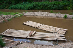 Bamboo Rafts Royalty Free Stock Image